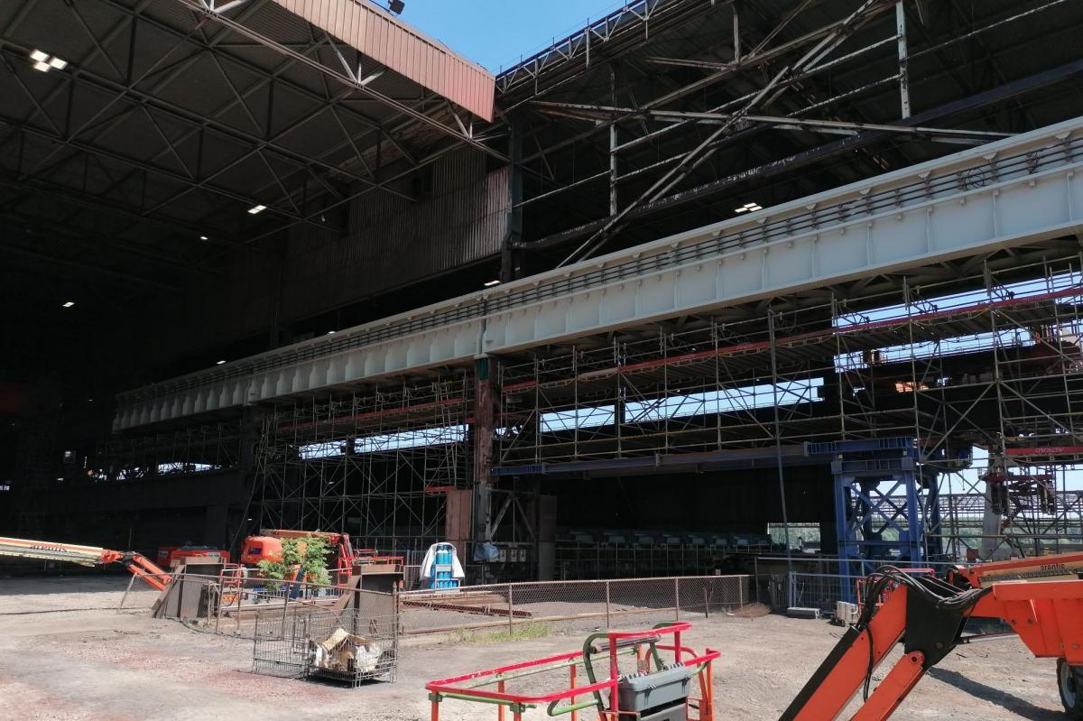 Victor Buyck Steel Construction vervangen kraanbaanliggers ArcelorMittal