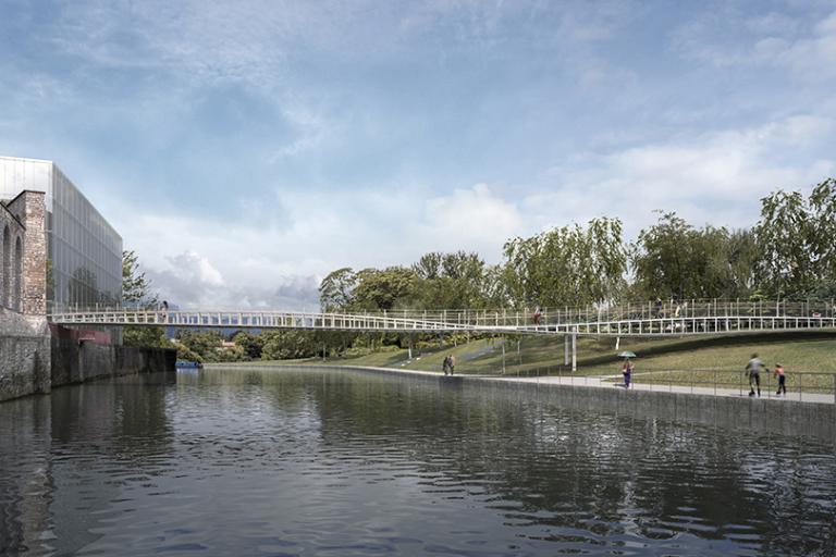 Victor Buyck Steel Construction Bath Quays Bridge (Marc Mimram)